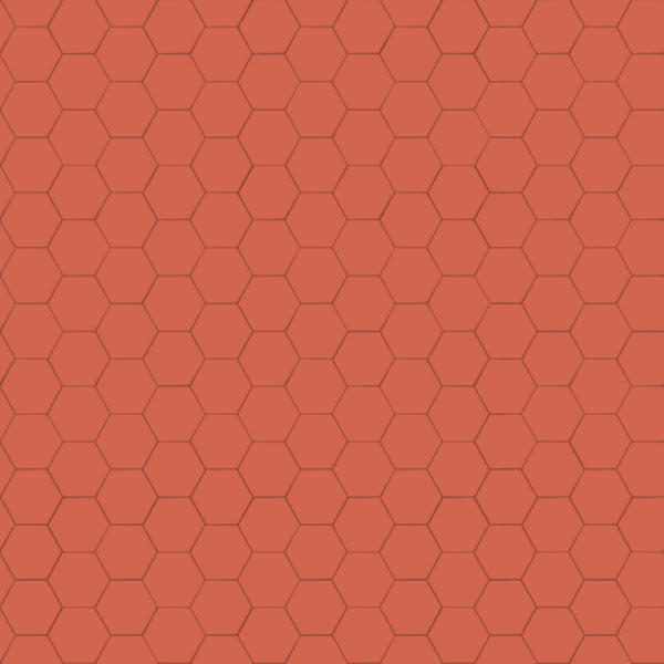 Xyz Mtextur Hexagonal Ceramic Tile Ral 2012 Orangé
