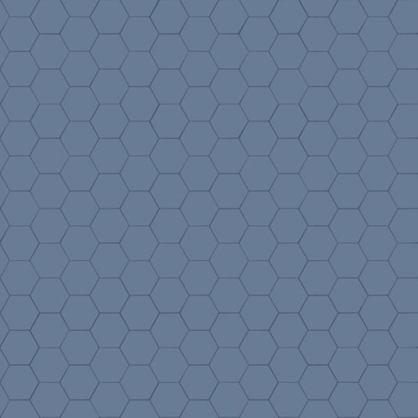 Xyz Mtextur Hexagonal Ceramic Tile Ral 5014 Bleu
