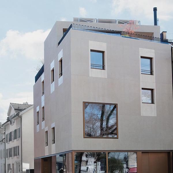Haus aus Kalksteinbeton, Zürich, ZH, Holcim, k. A., by mtextur