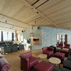 Frutt Family Lodge – Rest. + Empfang, Topakustik, Architekturwerk AG Sarnen, by mtextur